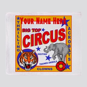 Retro Circus Throw Blanket